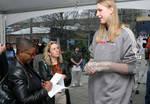 Tall woman interview