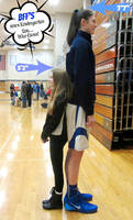Tall Volleyball player compare