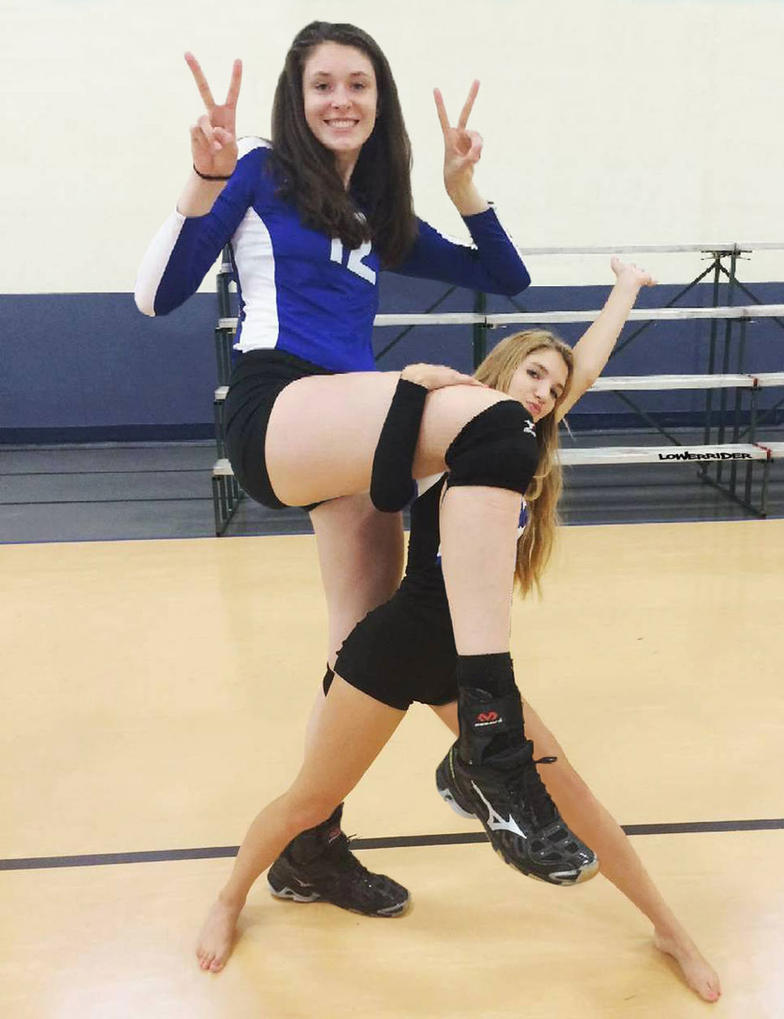 Tall Volleyball player leg up by lowerrider