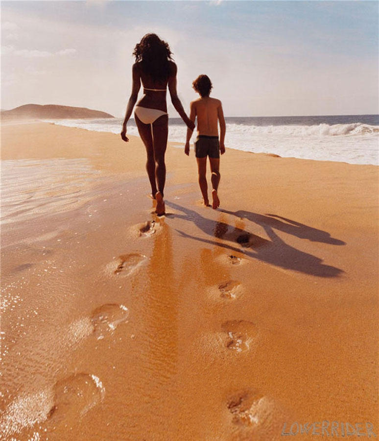 Tall woman beach walk by lowerrider on DeviantArt