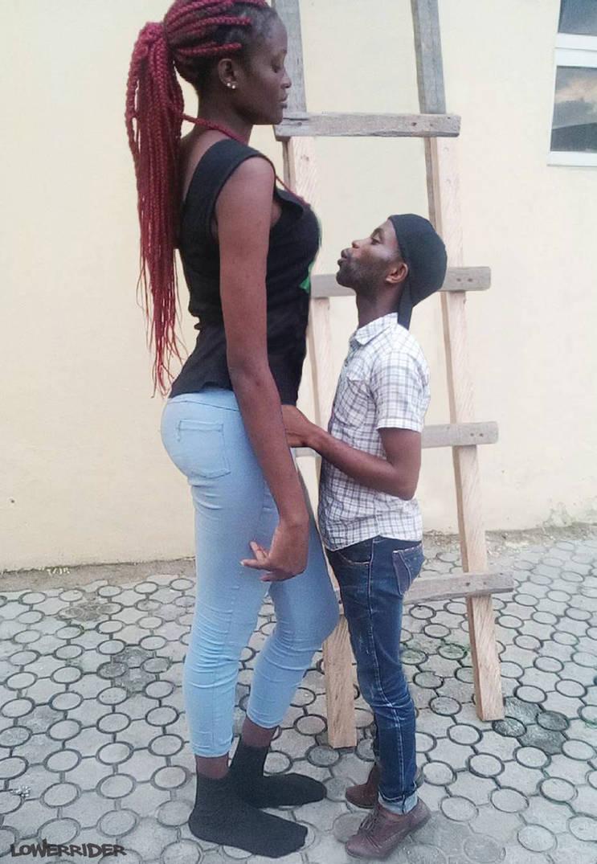 Tall girl short man kiss by lowerrider on DeviantArt