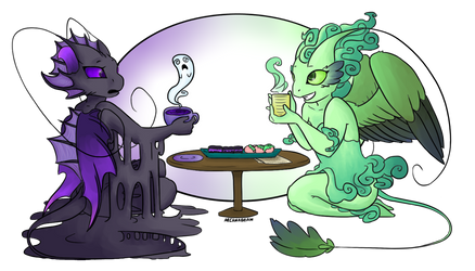 Sprite Tea Time by Elzerei