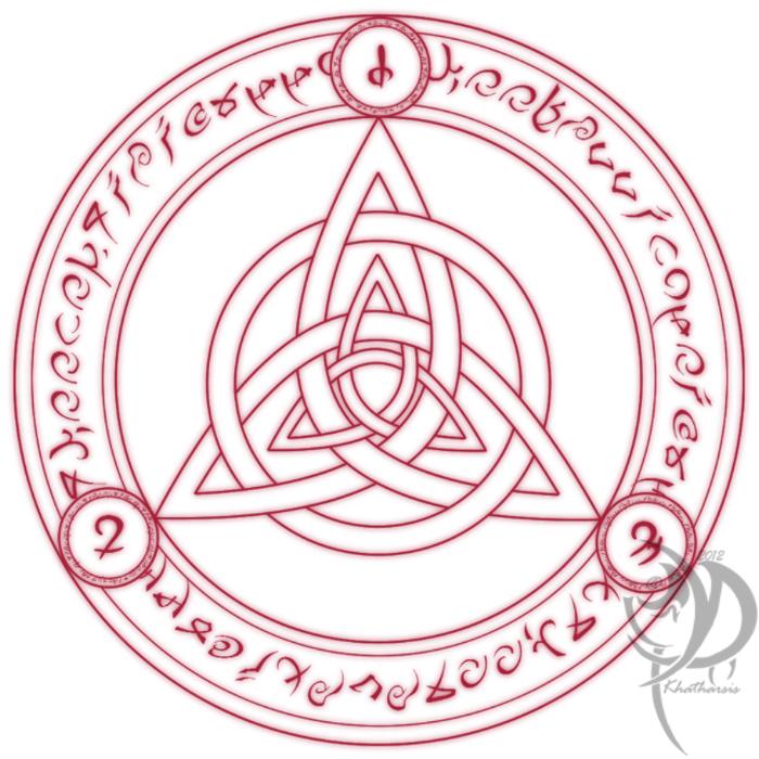 Dark Trinity Logo Art Concept by Khatharsis