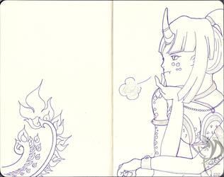 Dark Trinity Sketchbook - 008: Ida by Khatharsis