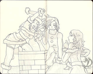 Dark Trinity Sketchbook - 009: Holiday Sisters by Khatharsis