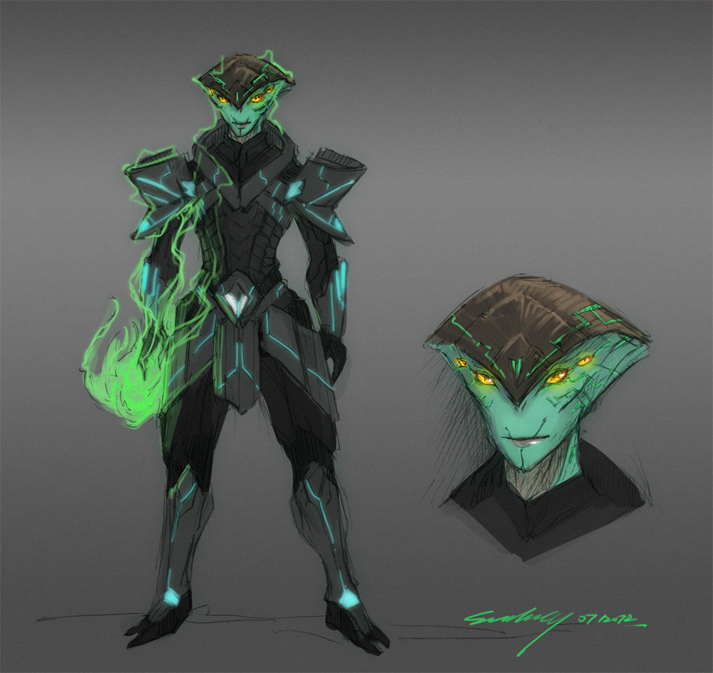 Mass Effect OC - Udayana Exion dis Nyack by