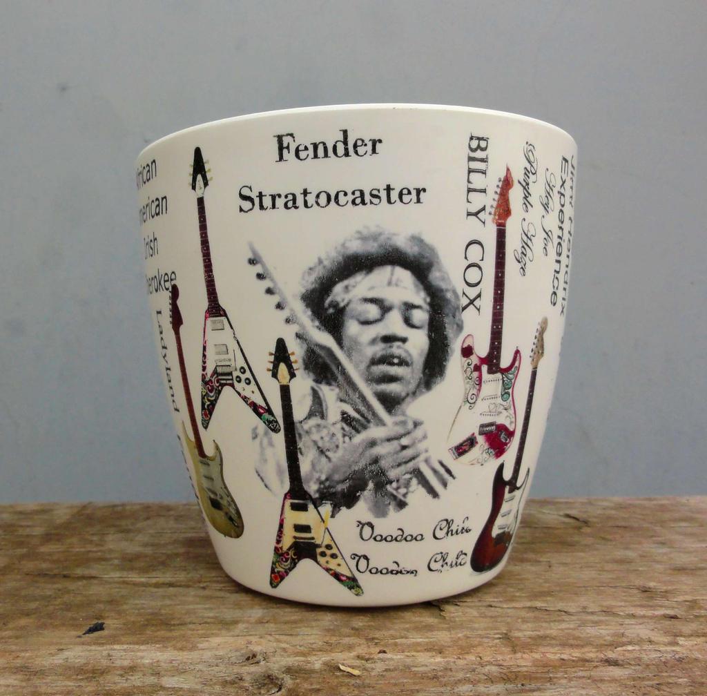 Jimi Hendrix Flower pot, Jimi Hendrix by naraosart