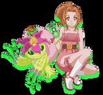 Tachikawa Mimi + Palmon --Xros Wars Style--