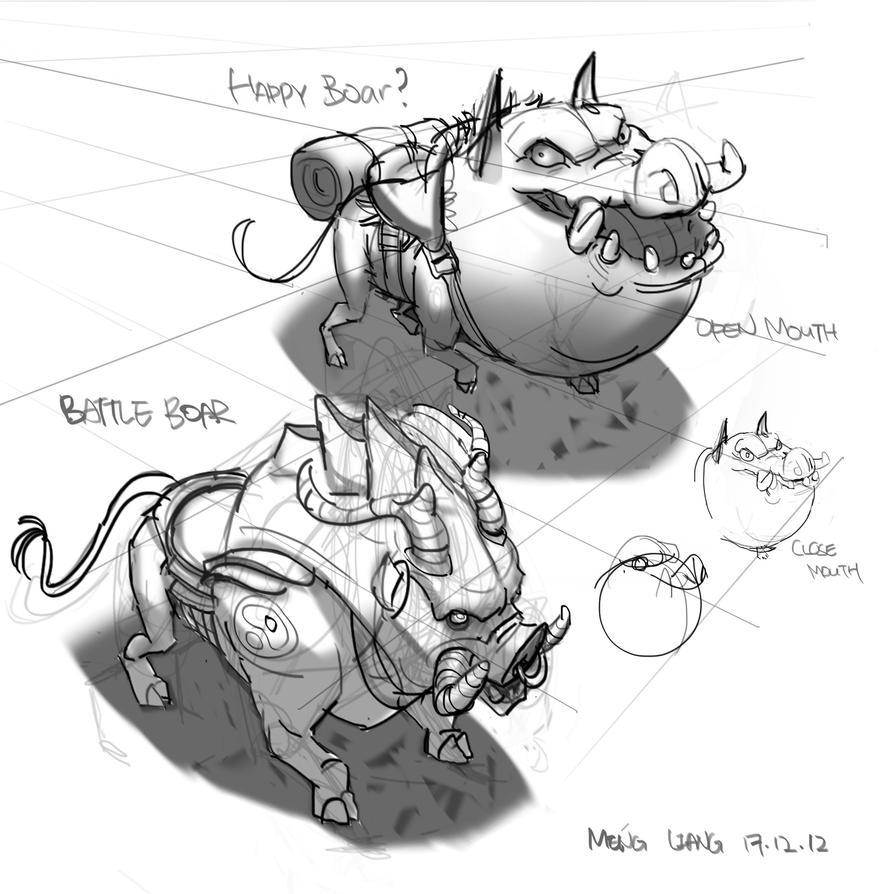 Wild Boar Sketch Practice wild boar creatureWild Boar Sketch