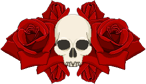 Skull and Roses Page Decor by HystericalVixen
