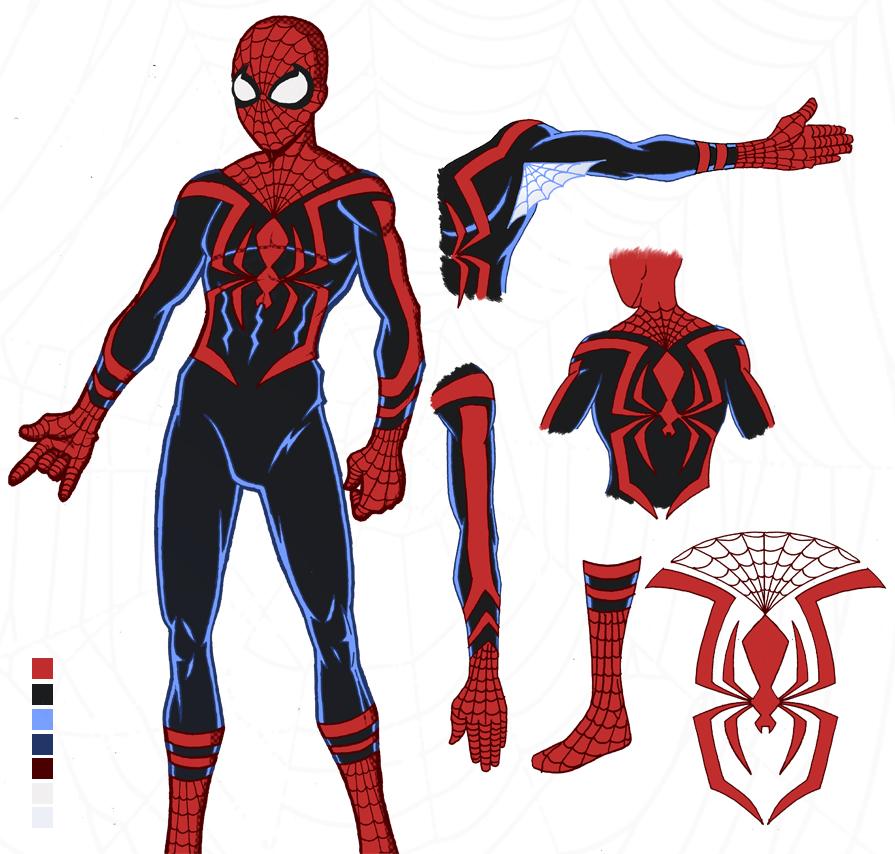 Spider man costume fan art