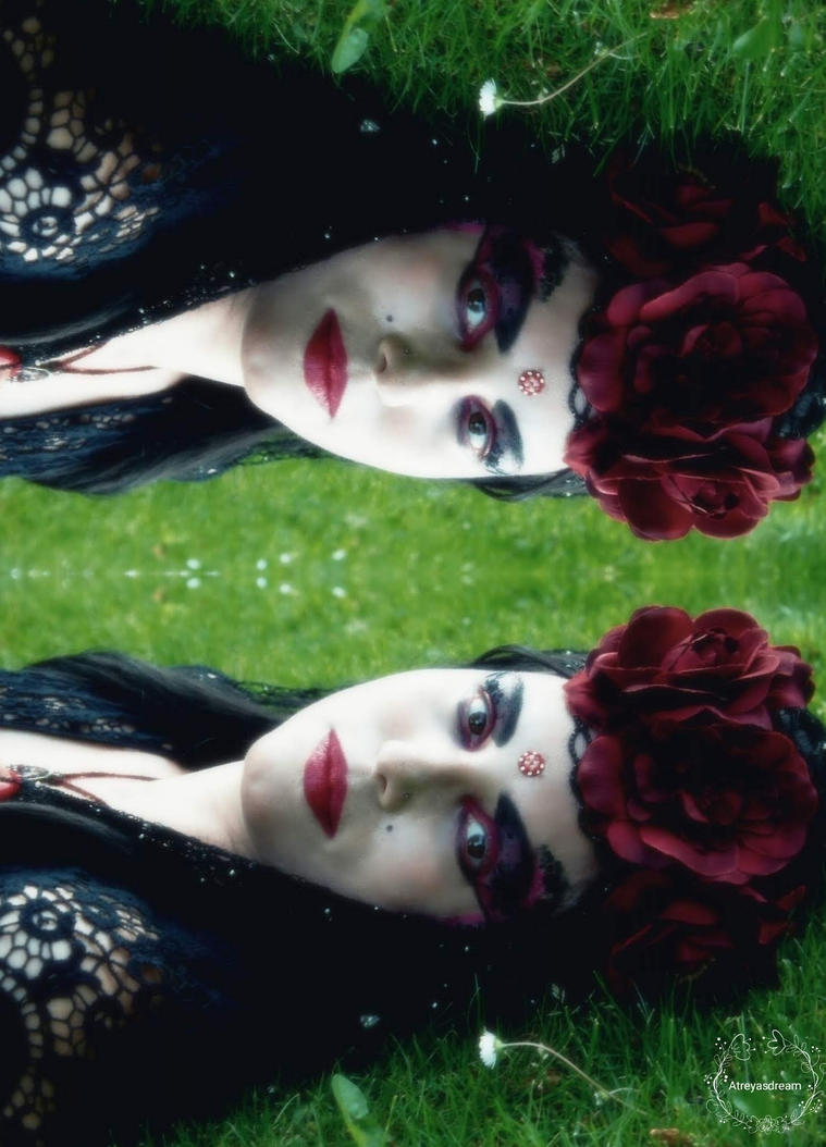 Gypsy Goth In the Forest by Atreyasdream