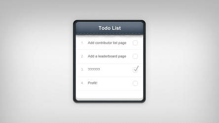 Todo list notepad by Mc-Cabe