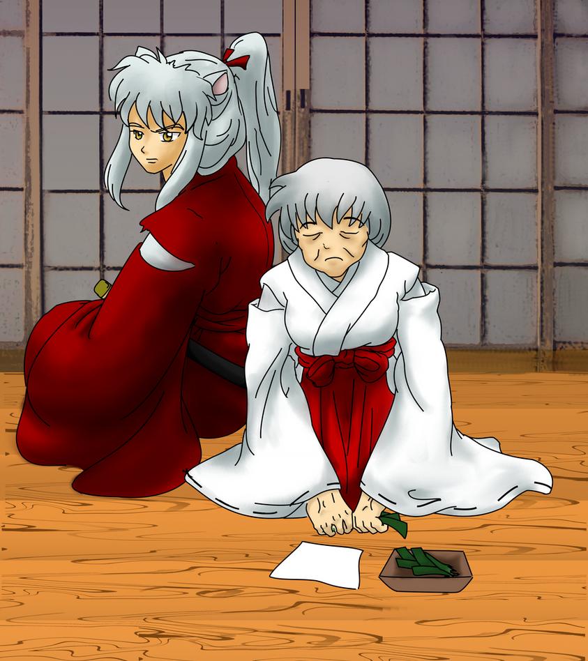 Kagome Sitting By Devicemodder On Deviantart: Older Inuyasha And Kagome By Nstone53 On DeviantArt