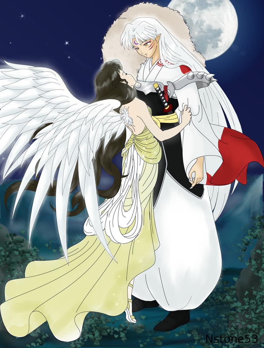 Anime Angel And Demon Wolves - Hot Girls Wallpaper