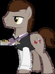 Silver Shine - OC Waiter Pony