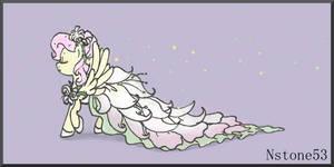 Fluttershy Wedding Flower Dress