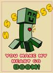 Creeper Valentines Card