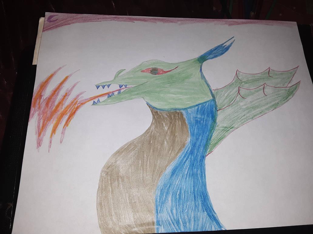 happy bodyless dragon  by SquidKitty1994