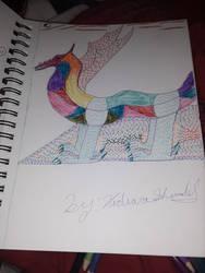 rainbow dragon by SquidKitty1994