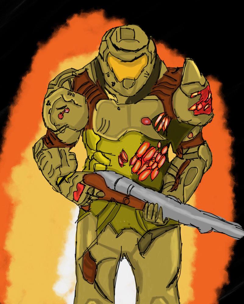 Doomguy (Doom 2016) by LordDiscord25