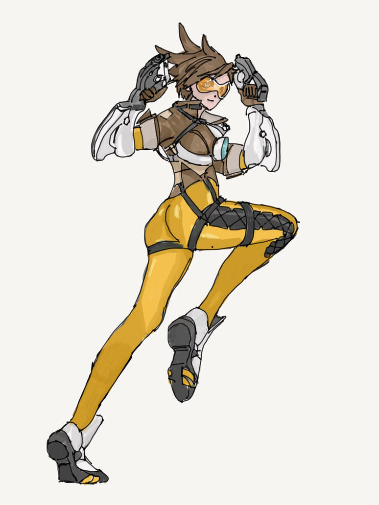 Tracer from Overwatch (2) by LordDiscord25