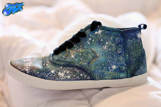 Nebula Shoes - Painted by hand