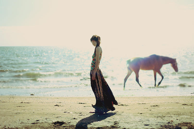 Wild horses on the beach by AlexandraSophie