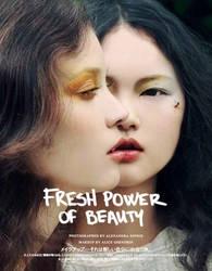 Vogue Japan: Fresh power of beauty by AlexandraSophie