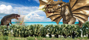Godzillasaurus Vs. King Ghidorah (Heisei)