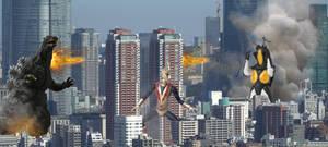 Zone Fighter and Godzilla (Heisei) Vs. Zetton
