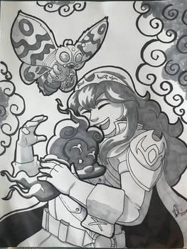 Lucina hugging Marshadow