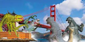 Godzilla Gorosaurus Vs Cyber Godzilla and C Rex