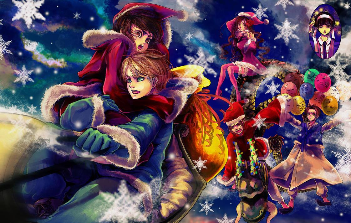 Hetalia - Merry Christmas by ihirotang