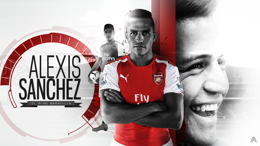 Alexis Sanchez (Arsenal) Wallpaper by AlbertGFX