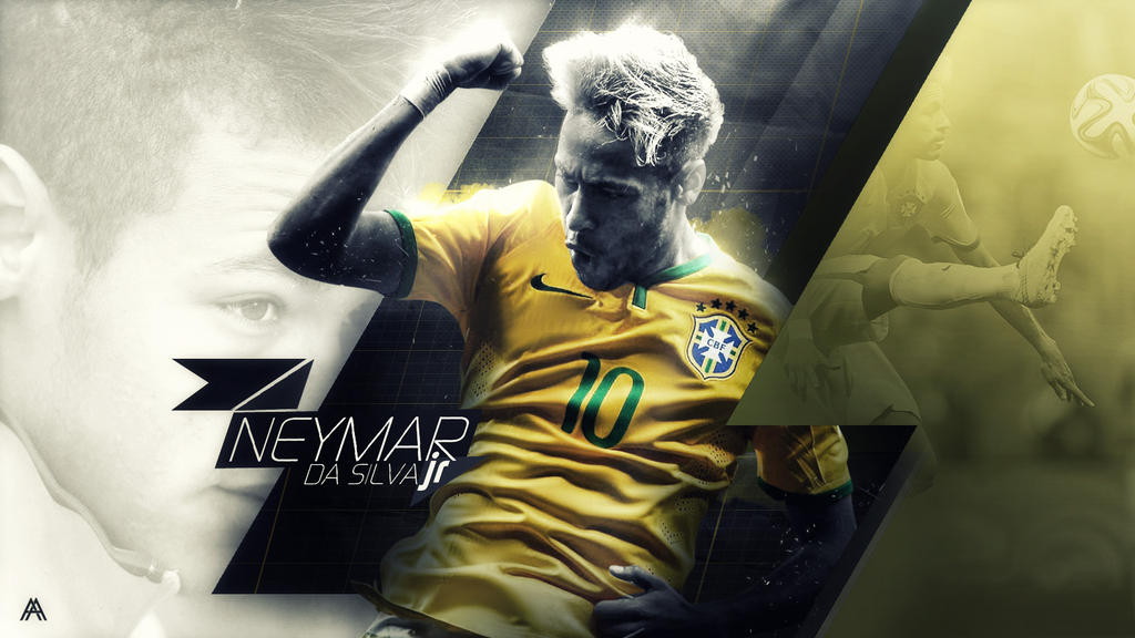 Neymar Jr Brazil Wallpaper By AlbertGFX