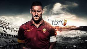 Francesco Totti Wallpaper 2014-15 (AS Roma) by AlbertGFX