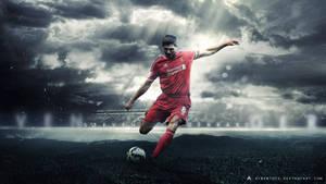 Steven Gerrard 2014/15 Wallpaper (Liverpool FC) by AlbertGFX