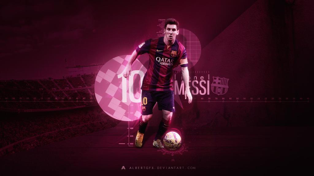 Lionel Messi 2014 15 Wallpaper By AlbertGFX