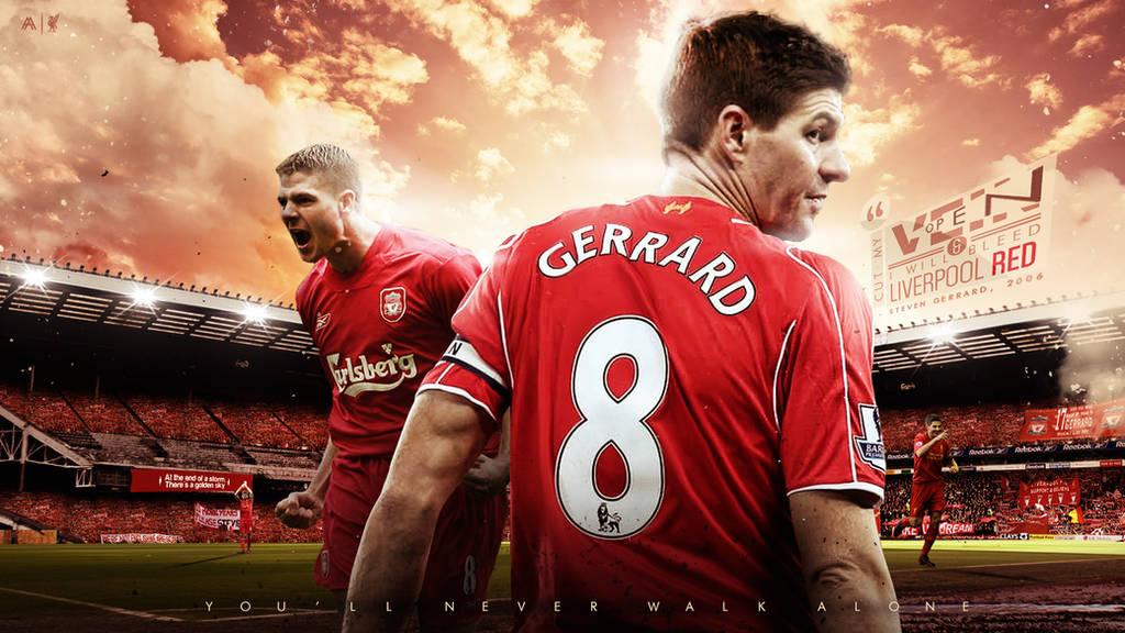 Steven Gerrard 2015 Wallpaper by AlbertGFX