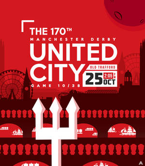 170th Manchester Derby Poster