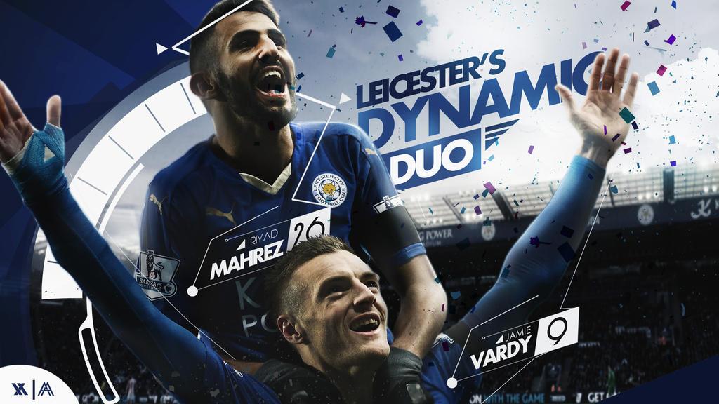 Mahrez - Vardy Wallpaper (Leicester City)