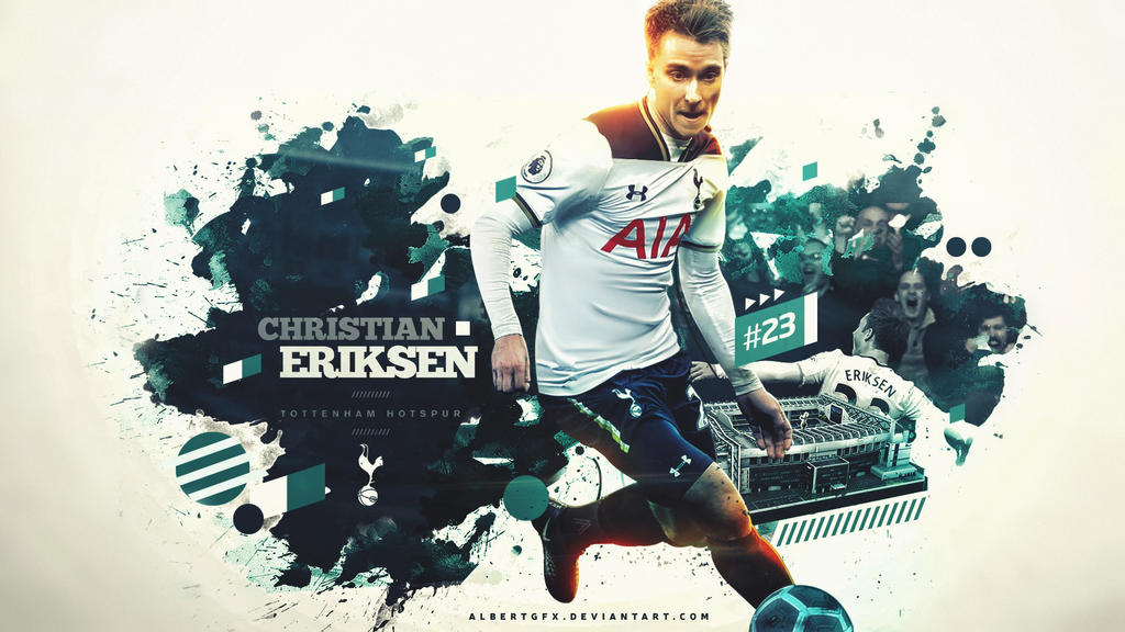 Christian Eriksen Wallpaper 2017 by AlbertGFX
