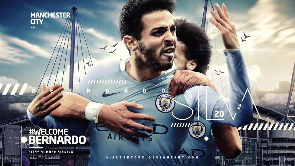Bernardo Silva Manchester City Wallpaper by AlbertGFX