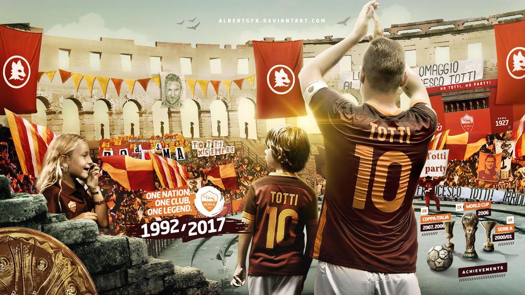 Francesco Totti 2017 Wallpaper by AlbertGFX