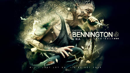 Chester Bennington (Tribute Wallpaper) by AlbertGFX