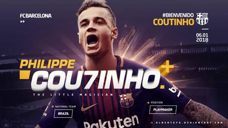 Philippe Coutinho Barcelona Wallpaper by AlbertGFX