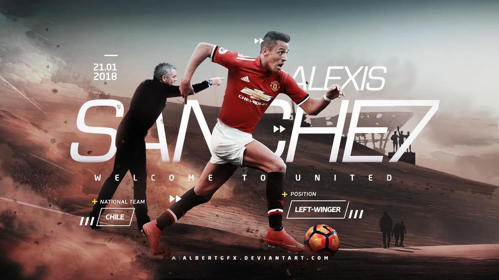 Alexis Sanchez (Manchester United) Wallpaper by AlbertGFX