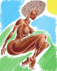Brown Skin Lady by LysergicEroticDesign