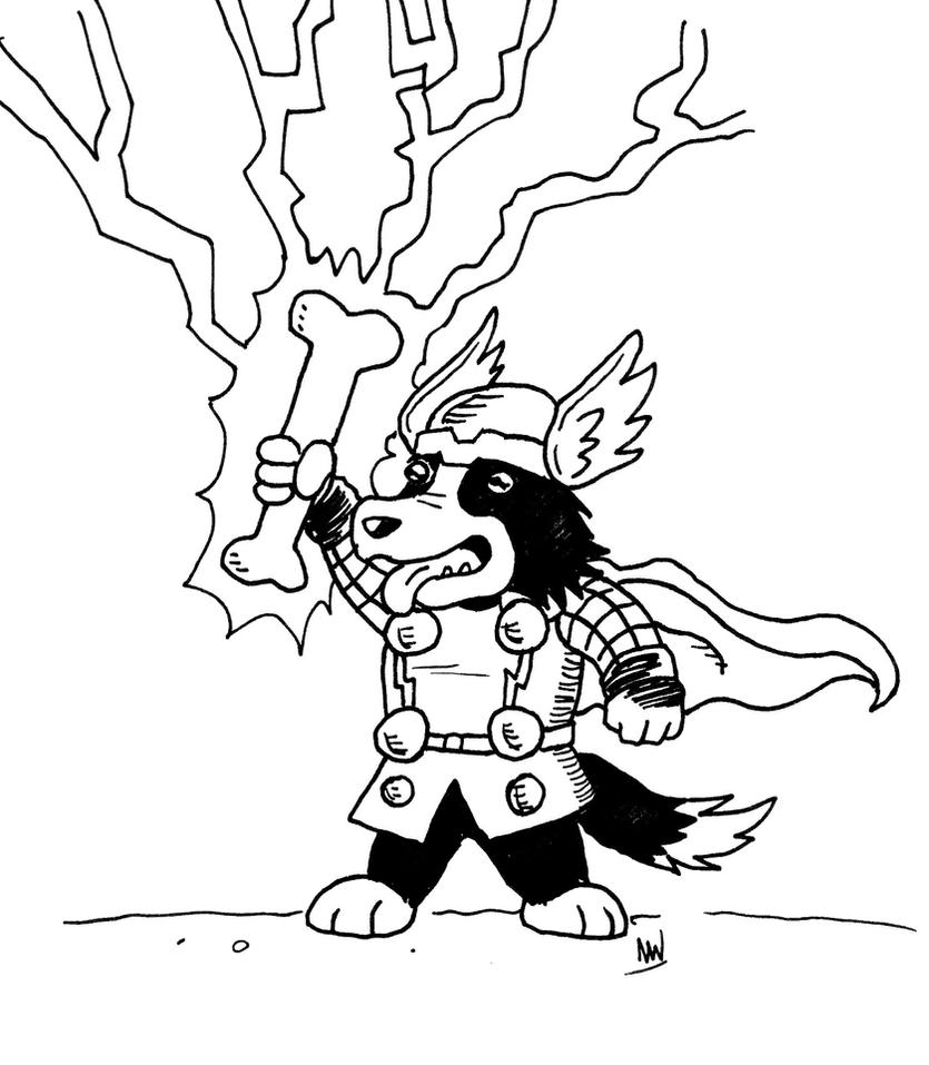 Dog Thor by synwells